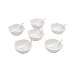 Set Sosiera 6 Piese + Lingurite Ceramica A11025