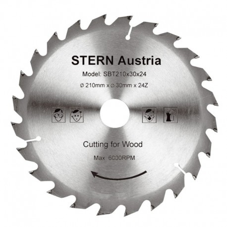 Disc Taiere Lemn Ferastrau Circular 24 Dinti (210Mm) Sbt210/24