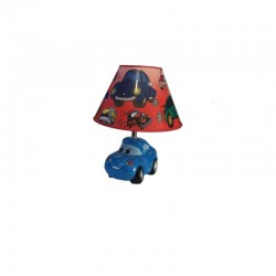 Veioza masinuta cu baza ceramica, inaltime 34cm, 220 v, model 01654 01