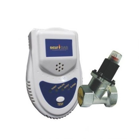 Detector De Gaz Cu Electrovalva 1/2 Sicurgas
