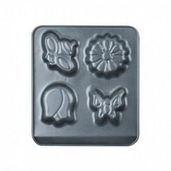 Tava Copt Cu 4 Forme, Otel Carbon, Peterhof Ph-15477, 18X16 Cm