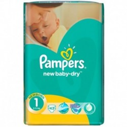 Pampers New Born Nr.1 2-5Kg 43Buc