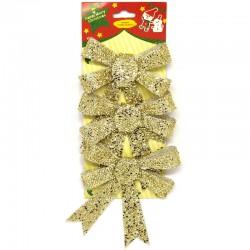 Fundite Pom Craciun 3Pcs Textil Sd-50118 Wei